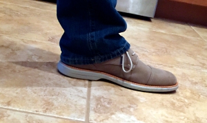 gray sperry mens shoe