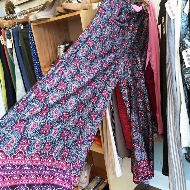 blue and pink palazo pants