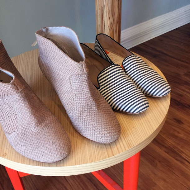 neutral shoes at clementine
